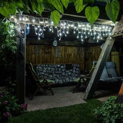 decoLED LED stalaktyty świetlne - zimna biel - 3x0,5m, 114 LED
