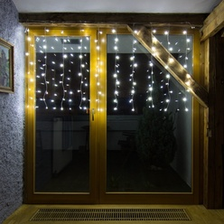 decoLED LED kurtyna świetlna HOBBY LINE, 2x2m, warm biel, 200 diod, decoLED